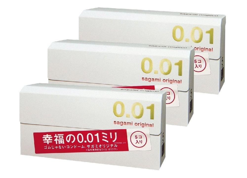 Sagami Original 001 0.01mm Ultra Thin Condom 5pcs x 3 Free Shipping Japan F/S