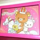 NEW San X Rilakkuma Wonderland Big large Wall Clock,Square clock pink fromJapan
