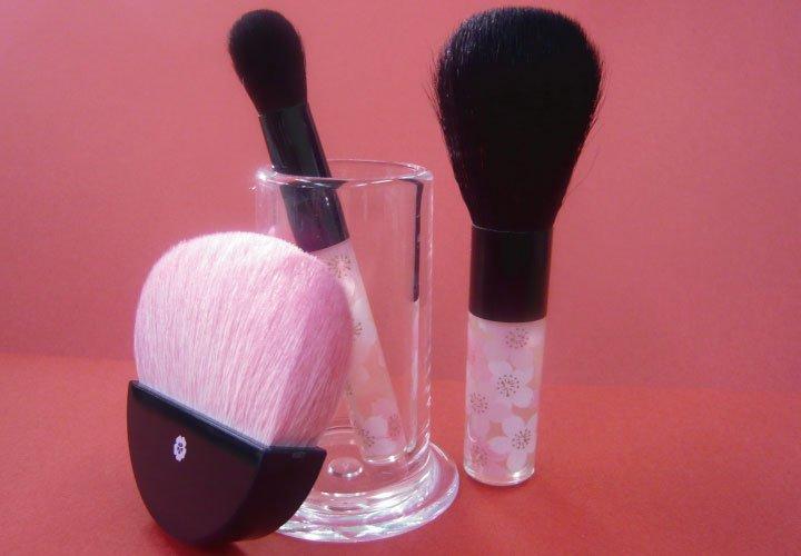 Maiko Kumano Beppin SAKURA-Brush,Powder & Cheek & Shadow 3 Set Make up Japan