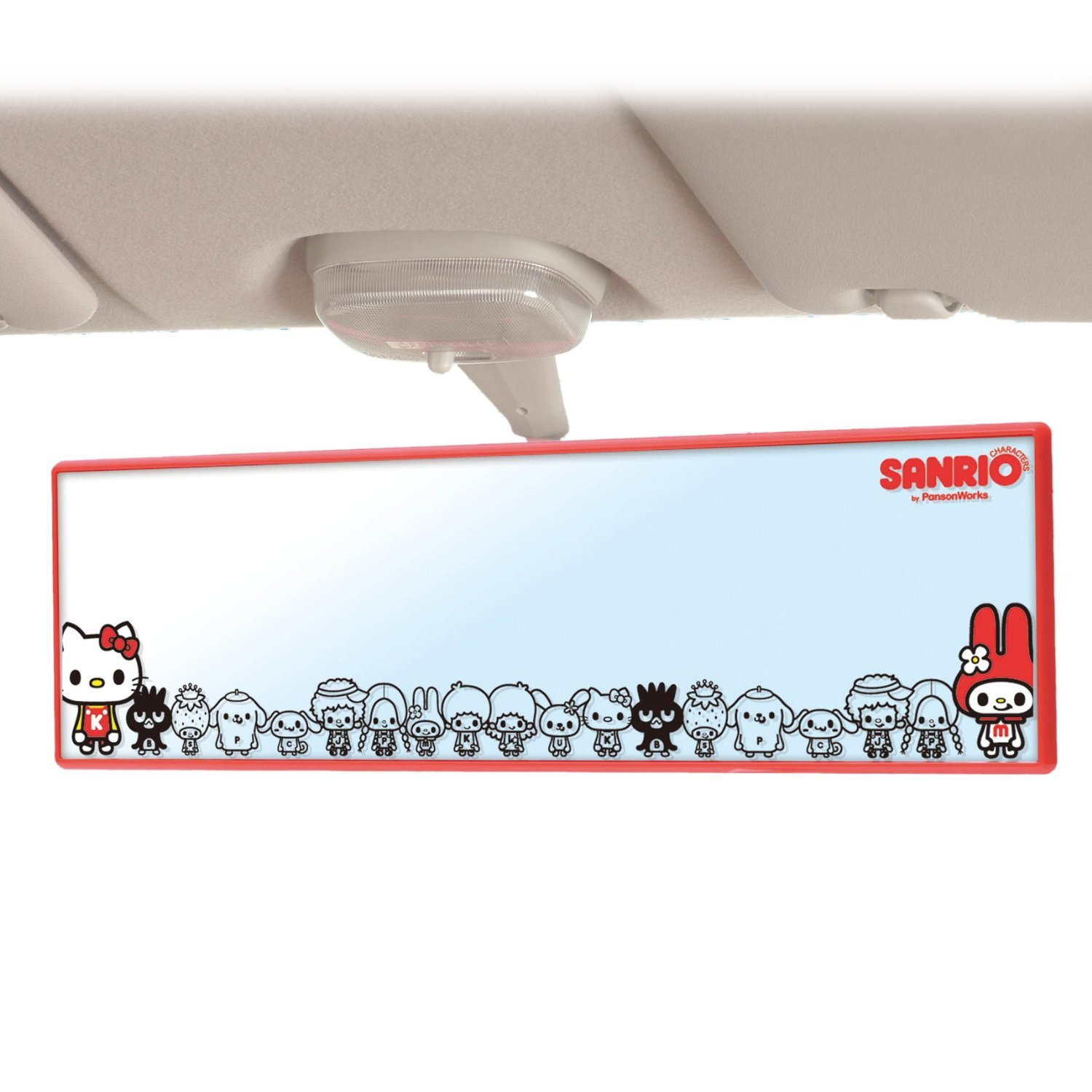 New Sanrio Characters Car Room mirror Cawaii KT411 From JAPAN Free Shipping