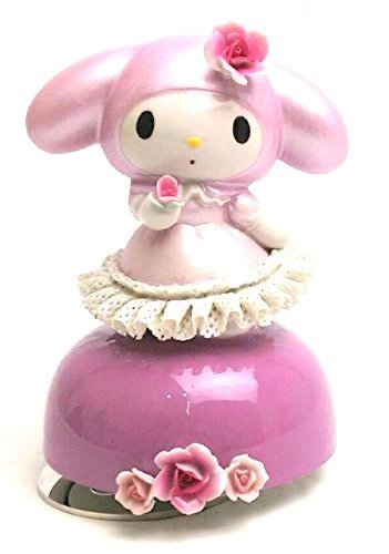 My Melody 40th Ceramic Porcelain Lace Doll Music Box Red Japan Plush FigureNEW