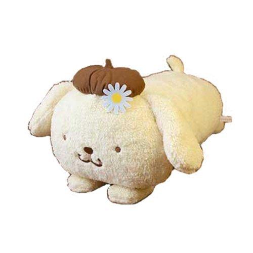 New Sanrio Japan Pom Pom Purin Plush Cushion (Flower)