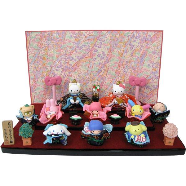HINA Dolls of Sanrio Character & Kitty Kikirara My MelodyJapanLimited Plush F/S