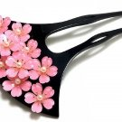 "Maiko SAKURA Pearl Cherry Blossom ""Kanazashi PINK Japanese hairpin YukataKimono"