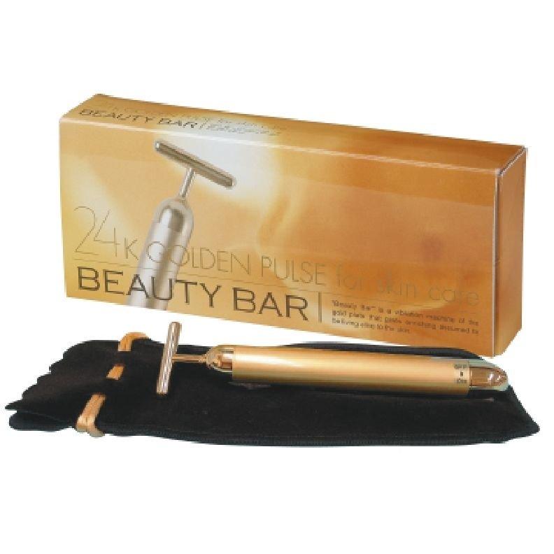 Beauty Bar 24K Golden Pulse Skin Care Lift up FacialRoller Massage Anti-Aging FS