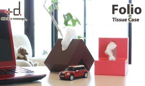 Folio L-Shaped Tissue Box - Folded designer Kleenex dispenser from Japan