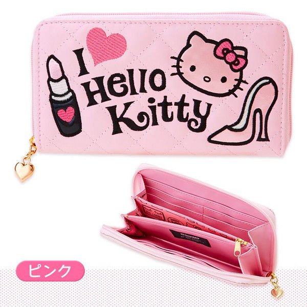 Sanrio Japan Hello Kitty length wallet Love PINK