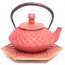 NEW Hello Kitty Iron Kyusu Tea Pot + Coaster Kettle Japan Limited SANRIO F/S