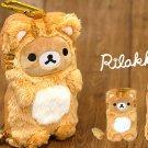 Very Rare! Rilakkuma Plush doll Stuffed toy Smartphone Pouch Case San-X JapanF/S