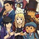 New Professor Capcom Official Book Layton VS Ace Attorney Setting Art Book Japan
