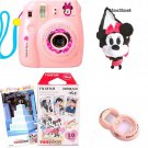 Instax Mini 8 MINNIE MOUSE Pink Fujifilm Camera + 10 Film+ Case + Lens SETF/SEMS