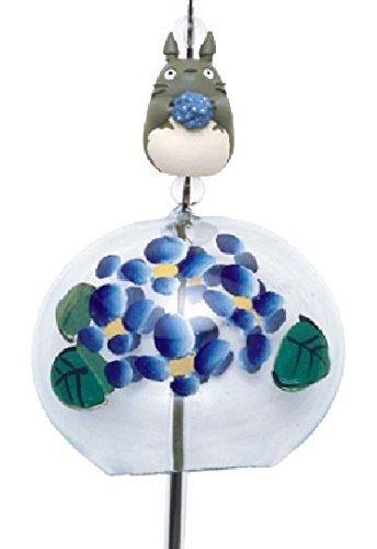Summer Edo Wind chime Hydrangea Totoro -Blue Made in Japan Brand NEW F/S