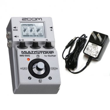 ZOOM MS-50G MULTI STOMP + AC Adapter Set Multi-Effects Guitar Pedal Japan NEWF/S