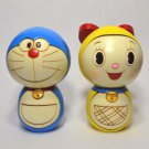 F/S DORAEMON & DORAMI Usaburo Kokeshi Japanese Traditional Wooden Doll Set