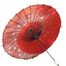 Japanese Dance Umbrella Sakura Fubuki red color for Cosplay Kawaii Beautiful