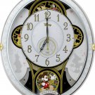 Rhythm Clock Disney Mickey & Friends M509 Radio Trick Clock White 4MN509MC03 New