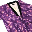 Hanten Short Coat of kimono Pattern Room Wear Happi Purple M, L JAPAN F/SNEW