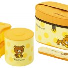Rilakkuma dot Lunch box with Fork case & Warm jar KCLJ7DX From Japan