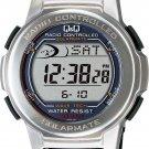 CITIZEN Q&Q SOLARMATE radio chronograph waterproof Silver MHS5-300 Mens Japanese