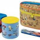 Snoopy & Friends Lunch box with Fork case & Warm jar KCLJ7DX From Japan