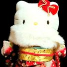"Furisode Maiko Kimono Hello Kitty 17.3""stuffed Plush Doll,Geisha Very Rare! F/S"