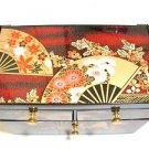 Maiko Geisha Petit Make up case, Jewelry case box for Skin Care Kimono Japan F/S