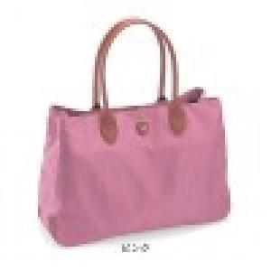 DISNEY Mickey Nylon Tote Shoulder Bag Handbag Large Emblem from Japan T3815