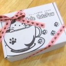 Discount available! Gift! Ribbon with Cafe Cat,Cat pad Marshmallow chocolate F/S