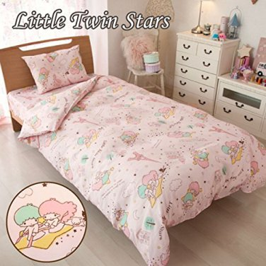 Little Twin Stars Bedding set Cover and Pillow case F/S SANRIO from JAPAN