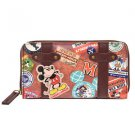 Mickey Mouse vintage wappen long wallet round zipper card pocket Disney Store
