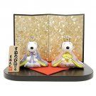 Snoopy and Belle Porcelain Hina Dolls cute compact type Japan Free Shipping NEW