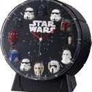 *RHYTHM WATCH Star Wars 12 Figures Alarm Clock 4ZEA26MC02 From Japan NEW
