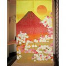 "Made in JAPAN NOREN"" New Red Fuji "" Japanese Traditional Curtain, Doorway NEW"