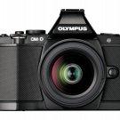 Olympus OM-D E-M5 Digital Camera 16.1 MP Kit ED EZ 12-50mm Lens Japan Black F/S