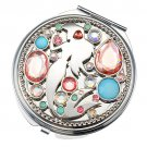 Tokyo Disney Store Little Mermaid Ariel Compact Mirror Disney Crystal From JAPAN