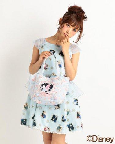 Disney Princess Cinderella Liz Lisa Floral tote bag w/ can badge
