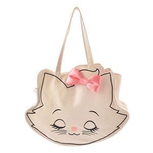 Disney Store The Aristocats Marie Face Cotton Canvas tote bag JAPAN Limited