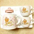 Rilakkuma 10 th.Anniversary tea pot & 2 cup Set Pink Japan limited! Coffee FSNEW