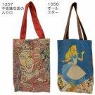 NEW! Disney Alice in Wonderland Linen Blend Tote Bag from Japan