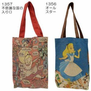 NEW! Disney Alice in Wonderland Linen Blend Tote Bag from Japan