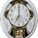 Rhythm Clock Disney Mickey & Friends M509 Radio Trick White 4MN509MC03 New F/S