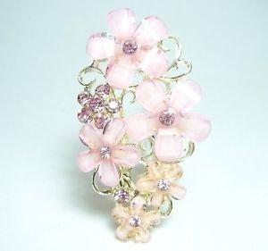 MAIKO SAKURA Cherry Blossom KANZASHI Hairpin Barrette Purple Wedding KyotoKimono