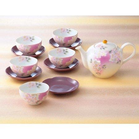 Chiyo Uno Akane Sakura Cherry blossom teapot Bowl SET 600ml for Green Tea JAPAN
