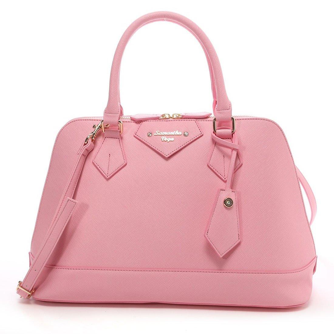 Samantha Thavasa Vega Tote bag Hand bag Coral pink NEW F/S Japan