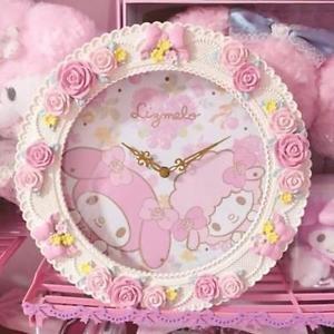 �Sanrio Rizmero LizLisa � My Melody Rose WALL CLOCK pink NEW FS�