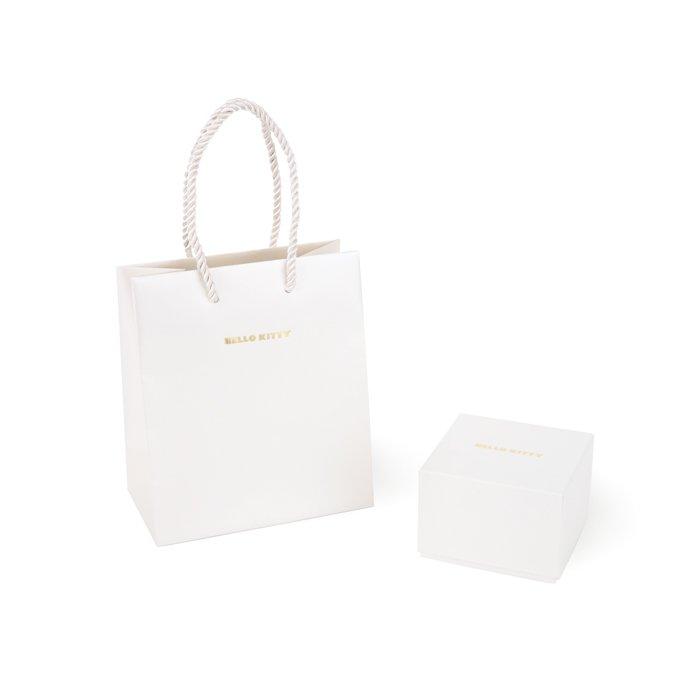 Hello Kitty Ruby Ribbon motif Engagement Ring K18 Pink Gold JAPAN NEW FS Gift