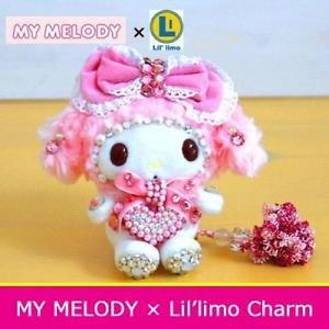 Very rare! My Melody Lil' limo Charm Swarovski Stuffed mascot Japan Limited FS