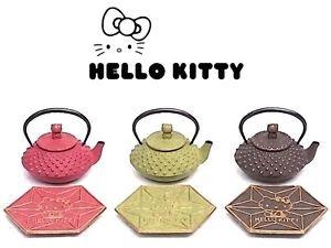 �GIFT! Hello Kitty Nanbu Iron Tea Pot x Coaster 0.35L SET Kettle NEW JAPAN FS �