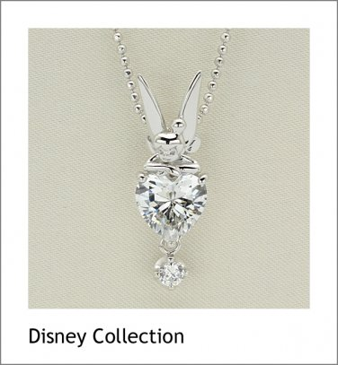 Gift! Disney Tinker Bell Silver cubic zirconia Necklace pendant Japan NEW F/S