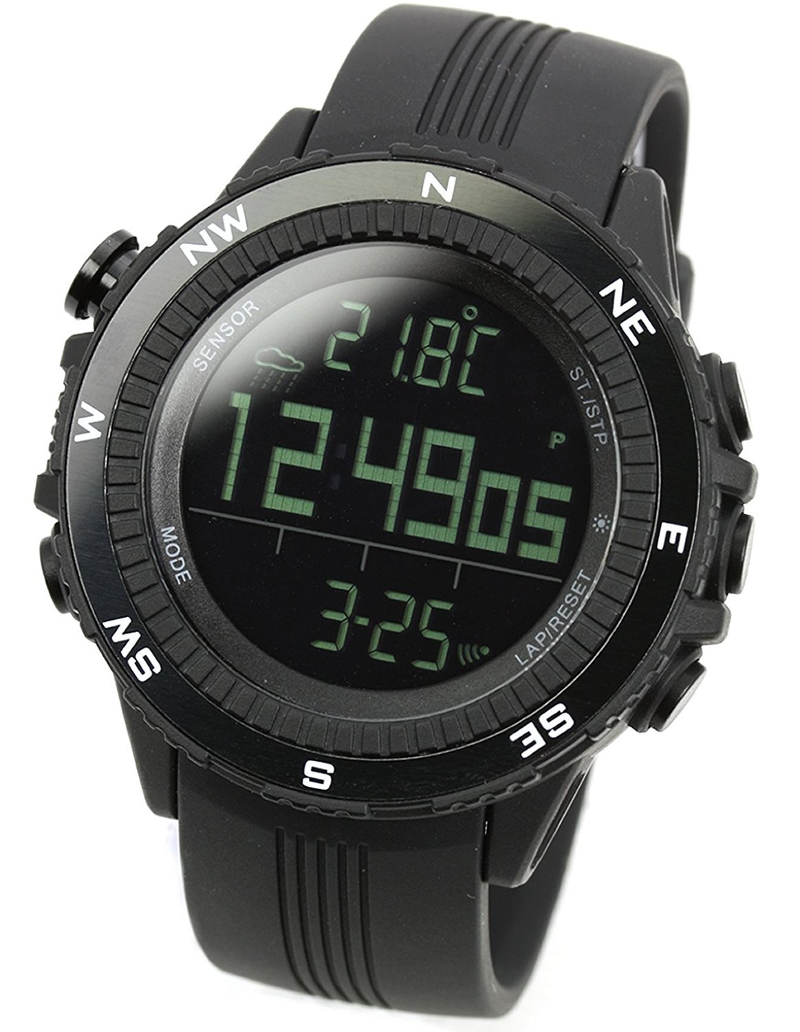 New LAD WEATHER Watch Outdoor Sports Heights Temperature Normal LCD BL
